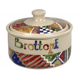 Brottopf - buntes Band